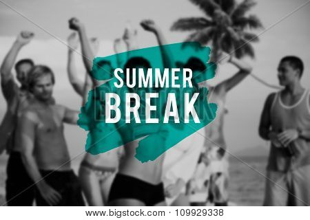 Summer Break Beach Friendship Holiday Vacation Concept