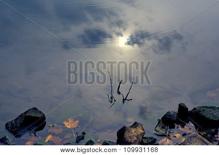 Sky Reflection In Clear Mountain Lake