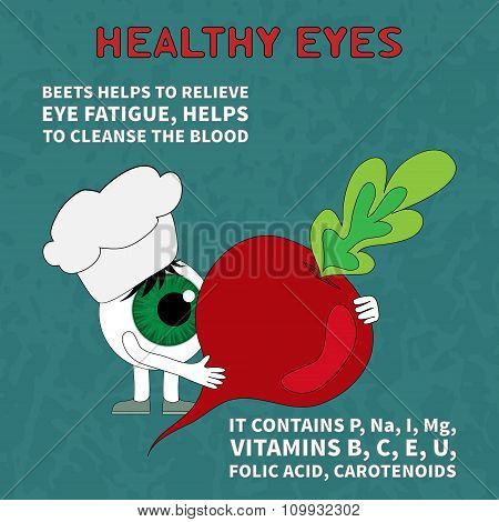 The product helps maintain eye health