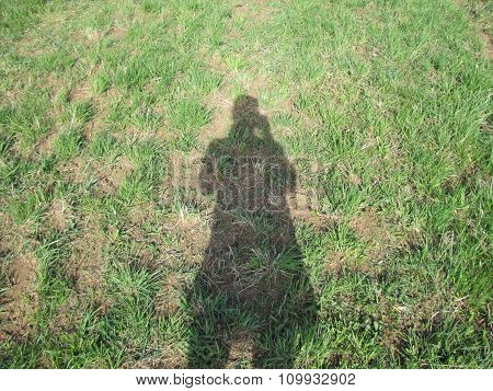 Photo Of Shadow Of Girl Making Photo Of Her Shadow