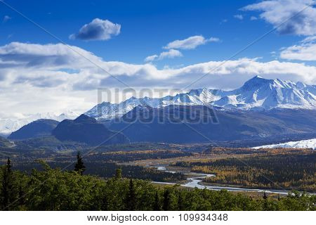 Graceful Bends Of Matanuska River