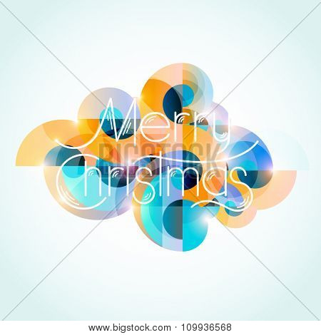 Christmas colorful design. Typographic poster.