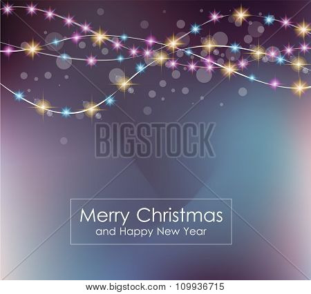 Christmas Lights Background for your seasonal wallpapers, Happy New Year Backgrounds, greetings card, dinner invitations, party flyers, covers and so on.