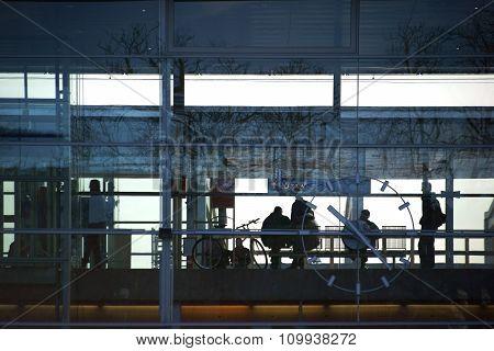 Glass facade main station Baden