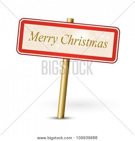 Merry Christmas text - xmas sign