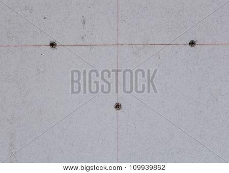 Gypsum Board With Screw