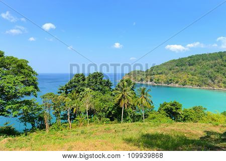 Nature Scene Tropical Beach And Blue Sky