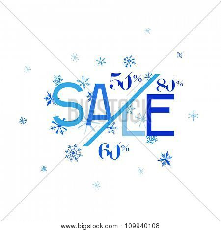 Winter Sale Banner - in vector