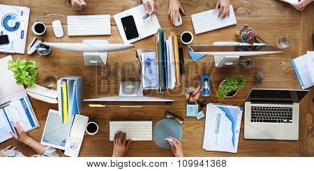 People Meeting Corporate Working Technology Startup Concept