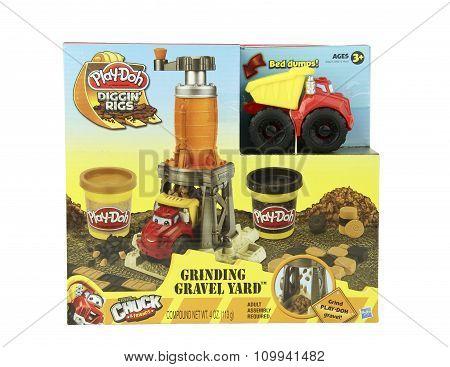 Play-doh Diggin Rigs Grinding Gravel Yard Kit