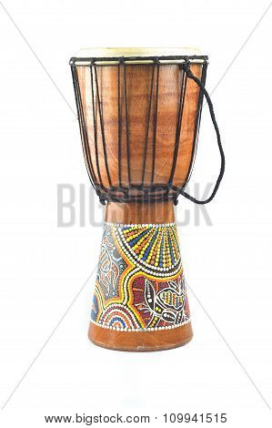 Djembe Isolated On White Background