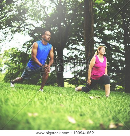 Activity Cardio Cheerful Couple Exercise Togetherness Concept