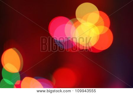 Colourful holiday bokeh. Abstract Christmas background