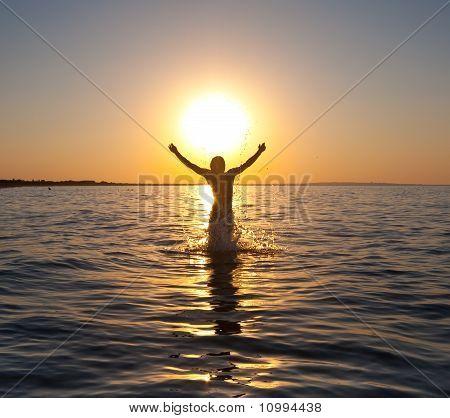 catching sun
