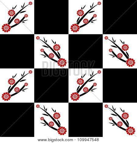Background of seamless Cherry blossom pattern