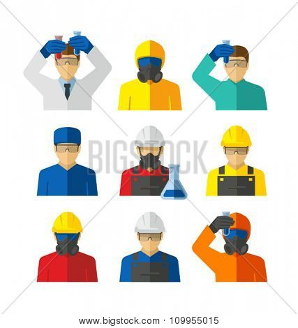 Chemical Laboratory Workers Vector
