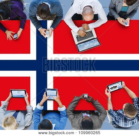 Norway National Flag Government Freedom LIberty Concept