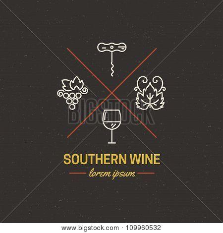 Hipster Wine Logo