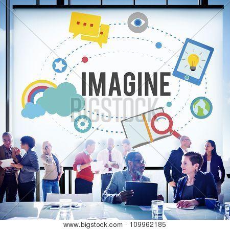 Imagine Imagination Ideas Innovate Thinking Concept