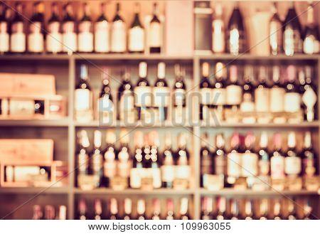 Blurred background with restaurant blur interior