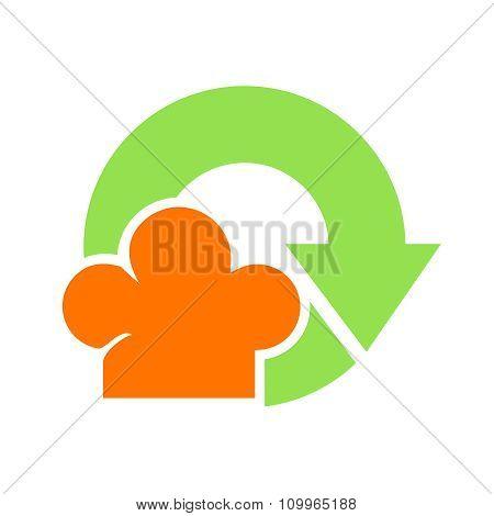 Vector food waste icon
