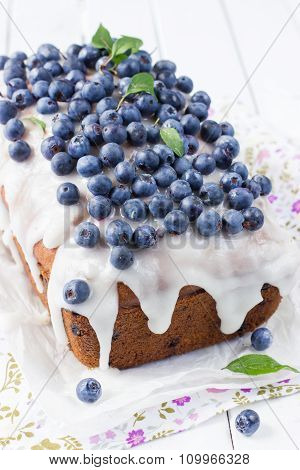 Blueberry Cake With Sugar Icing