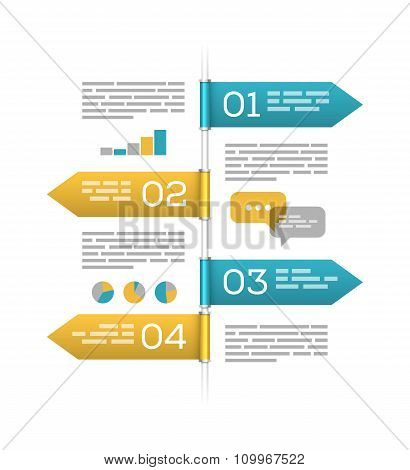 Infographic template on white