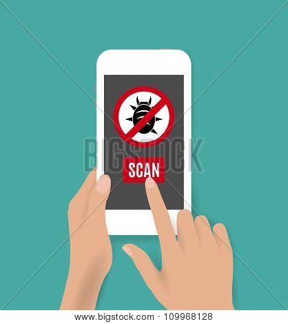 Smartphone antivirus icon