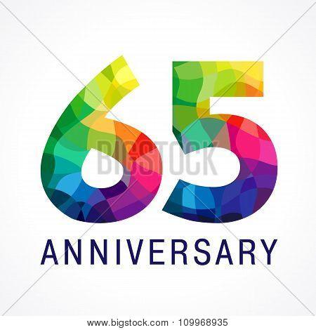 65 anniversary color logo.