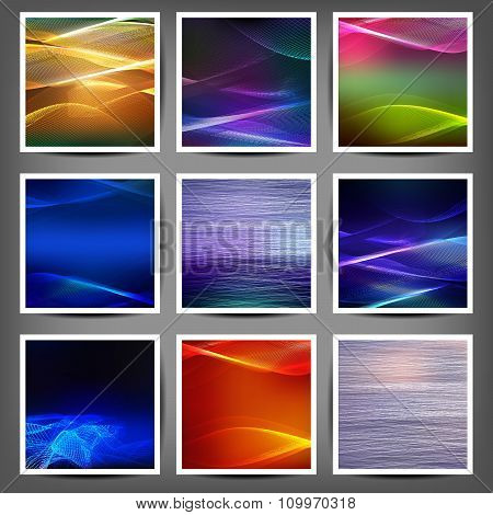 Set Of Blend Abstract Color Wave