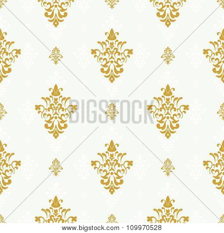 Vector seamless pattern with golden ornament