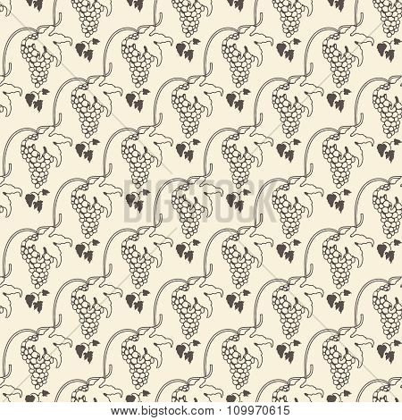 Grapes seamless pattern for wine background