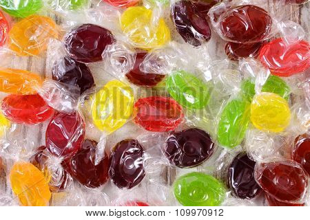 Heap Of Colorful Candies As Background, Too Many Sweets