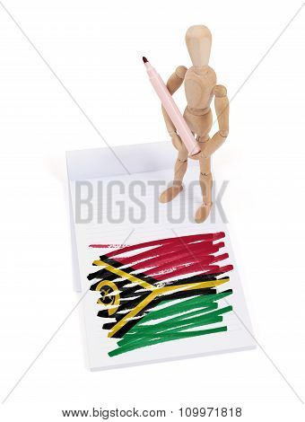 Wooden Mannequin Made A Drawing - Vanuatu