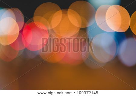 Abstract Oval Bokeh Lights Background