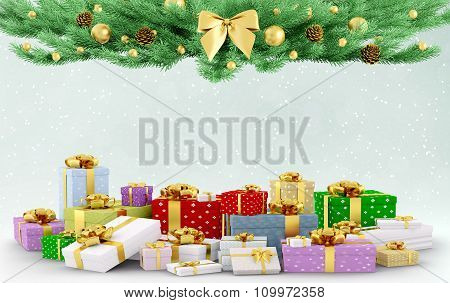Christmas Background 3D Rendering