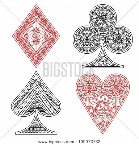 Poker set in ethnic style
