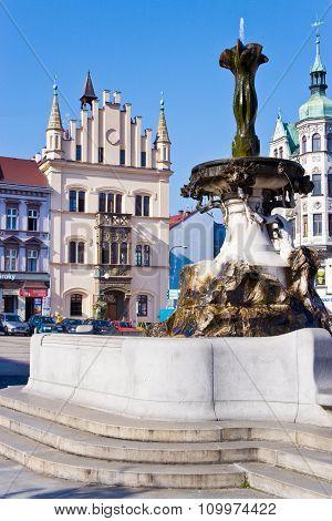 Masaryk Square, Decin Town, Czech Republic