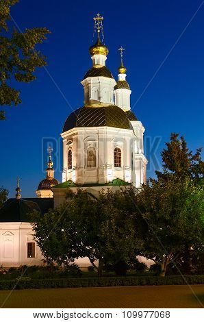 Kazan Cathedral In Evening Lights, Diveevo, Russia