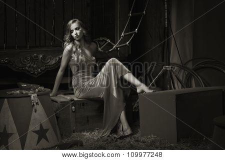 Circus Actress Backstage