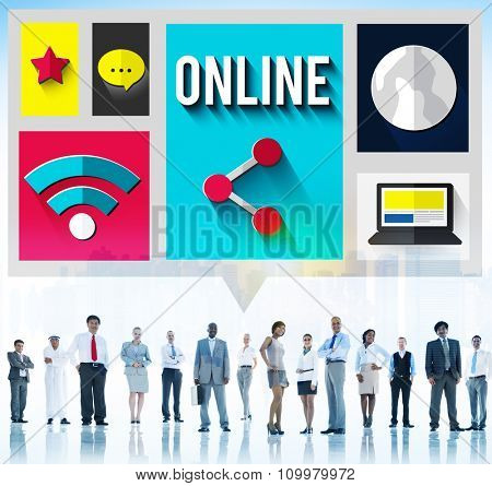 Online Network Connection Connnecting Internet Concept