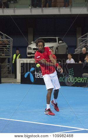 Grigor Dimitrov Defeated Monfils In A Demonstrative Match In Arena Armeec Hall, Sofia