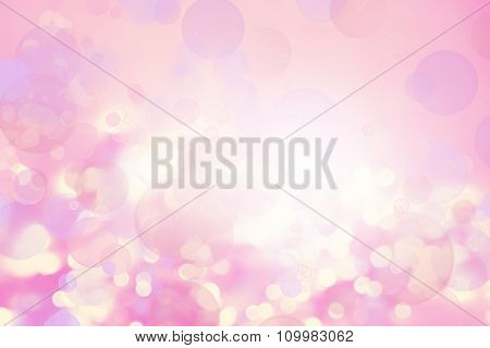 Circles on pink tone background