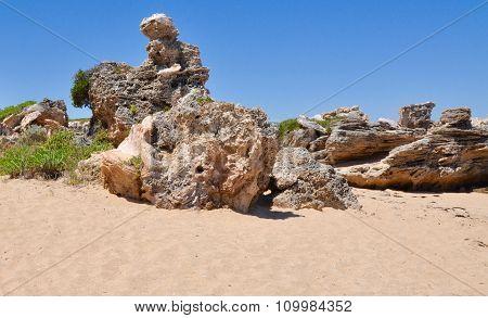 Unique Limestone Formations: Cape Peron, Western Australia