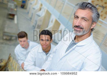 men in the stairway