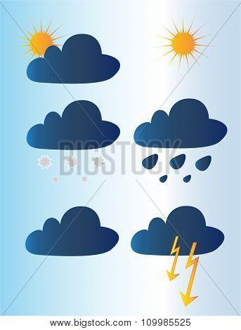 Seasons. Weather icons.