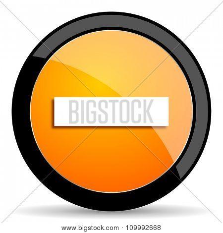 minus orange icon