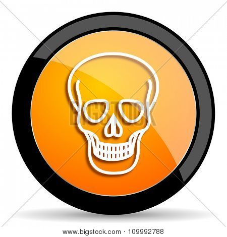 skull orange icon