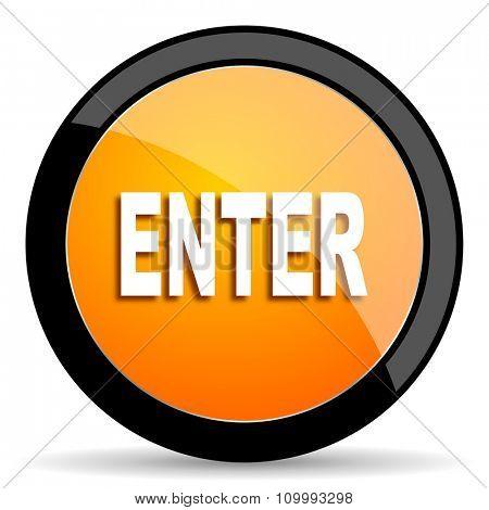 enter orange icon