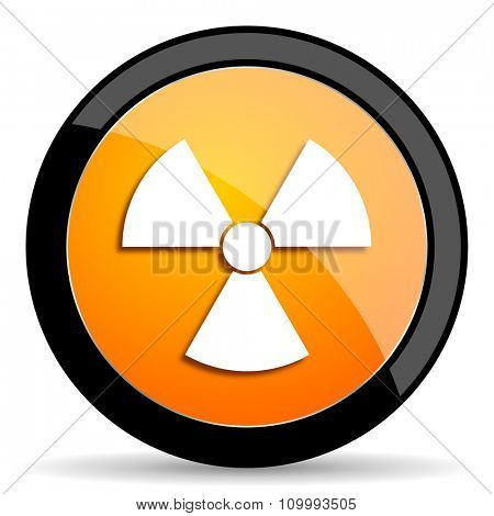 radiation orange icon